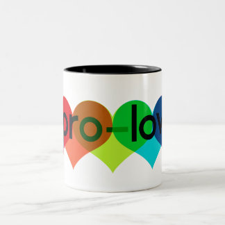 Pro Love say no to prop 8 h8 Two-Tone Coffee Mug