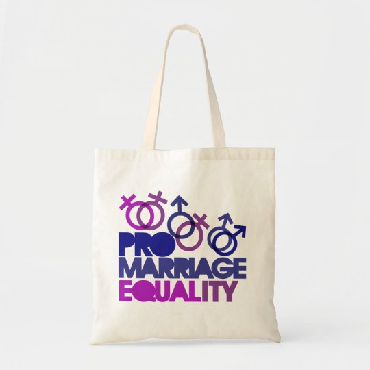 Pro marriage equality tote bag