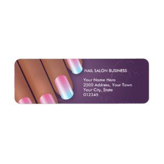 Pro Nail Salon Return Address Label