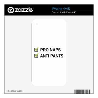 Pro Naps Anti Pants iPhone 4S Skin