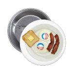 Pro-Obama 2012 Breakfast 2 Inch Round Button