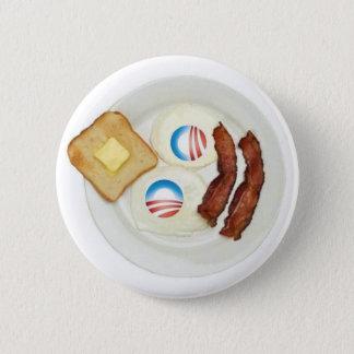 Pro-Obama 2012 Breakfast Button