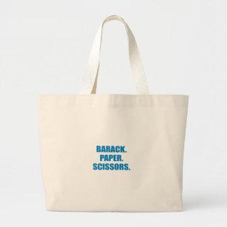 Pro-Obama - BARACK. PAPER. SCISSORS Tote Bag