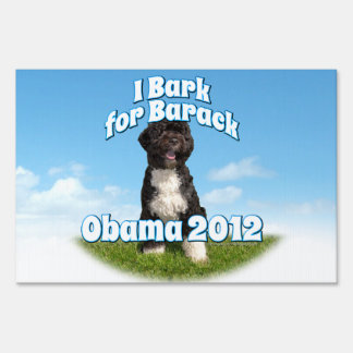 Pro-Obama Bo the Dog Elections Yard Sign