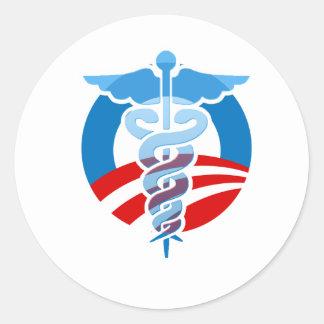 Pro-Obama Care Classic Round Sticker
