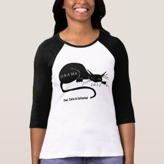 PRO OBAMA CAT  MESSAGE 2012 T-Shirt