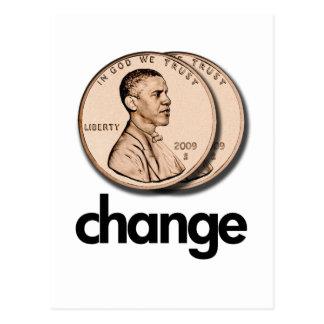 PRO OBAMA CHANGE POSTCARD
