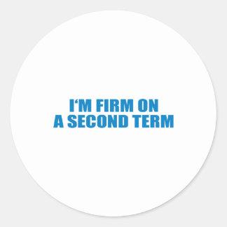 Pro-Obama - I'M FIRM ON A SECOND TERM Sticker