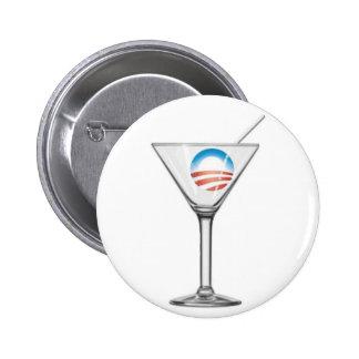 Pro-Obama Martini Button