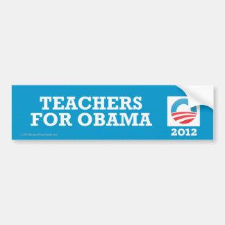 Pro-Obama Teachers For Obama Bumper Sticker