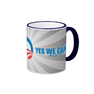 Pro-Obama - YES WE CAN AGAIN Mugs