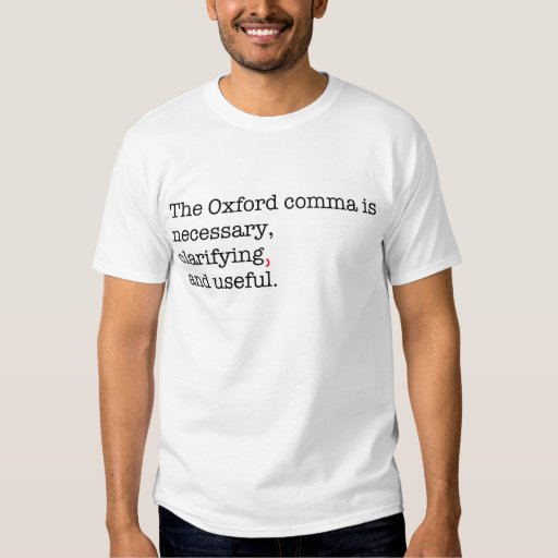 Pro oxford comma t shirt zazzle for T shirt printing oxford