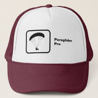 'Pro' Paragliding Logo and Text Trucker Hat