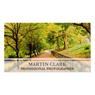 Pro photographer autumnm trees business card