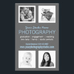 """Pro Photographer Business Handout<br><div class=""""desc"""">Professional portrait photographers can easily create a printed flyer leaflet to handout or post on bulletin boards. Showcase your own favorite snapshots and memorable captures of your past clients from your photographic portfolio in this classy four photo flyer template. Modern, simple style with two square cropped photo frames with thin...</div>"""
