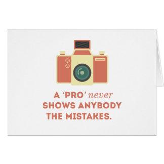 'Pro' Photographs Card