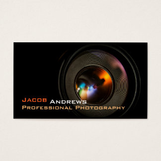 Pro Photography (Camera Lens) Business Card