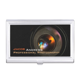 Pro Photography (Camera Lens) Business Card Holder