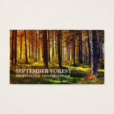 Pro Photography (forest) Business Card at Zazzle