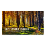 Pro Photography (Forest) Double-Sided Standard Business Cards (Pack Of 100)