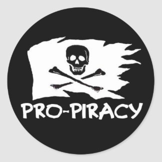 """Pro Pirate"" sticker"