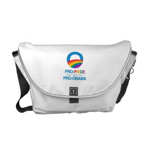 Pro-Pride and Pro-Obama Courier Bags