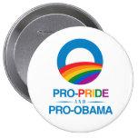 Pro-Pride and Pro-Obama Pins