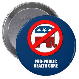 Pro-Public Health Care Button