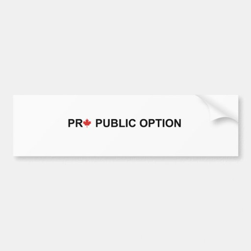Pro Public Option Bumper Sticker