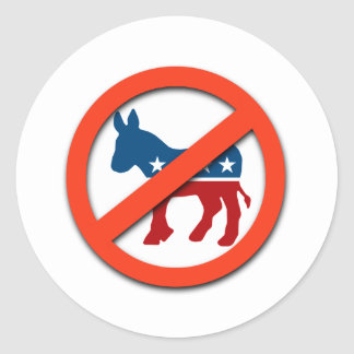 Pro-Republican / Anti-Democrat Classic Round Sticker