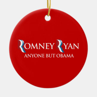PRO-ROMNEY - ANYONE BUT OBAMA -- .png Double-Sided Ceramic Round Christmas Ornament