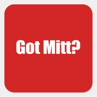 PRO-ROMNEY - GOT MITT -- .png Square Stickers
