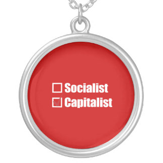 PRO-ROMNEY - I CHOOSE THE CAPITALIST -- .png Round Pendant Necklace