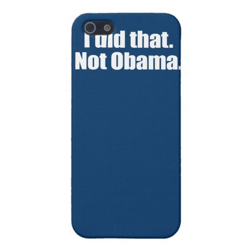PRO-ROMNEY - I DID THAT. NOT OBAMA -- .png iPhone 5 Cover