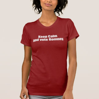 PRO-ROMNEY - KEEP CALM AND VOTE ROMNEY -- .png Tshirts