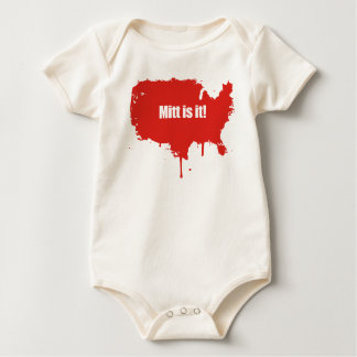PRO-ROMNEY - MITT IS IT -- .png Baby Bodysuits