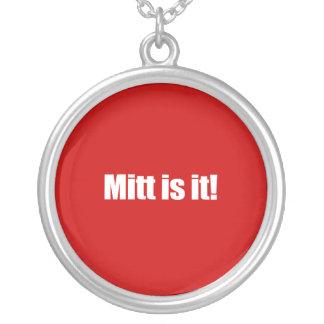 PRO-ROMNEY - MITT IS IT -- .png Round Pendant Necklace