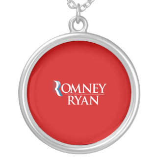 PRO-ROMNEY - OFFICIAL ROMNEY RYAN - -- .png Round Pendant Necklace