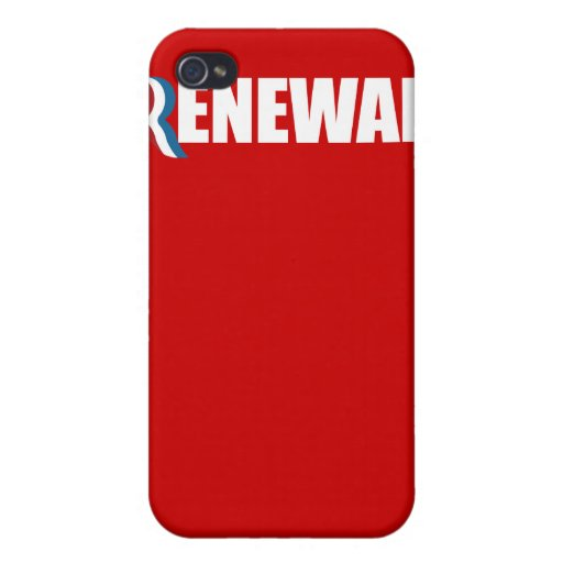 PRO-ROMNEY - ROMNEY STANDS FOR RENEWAL -- .png Covers For iPhone 4