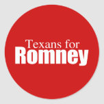 PRO-ROMNEY - TEXANS FOR ROMNEY -- .png Round Stickers