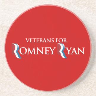 PRO-ROMNEY - VETERANS FOR ROMNEY RYAN -- .png Coasters