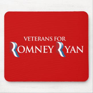 PRO-ROMNEY - VETERANS FOR ROMNEY RYAN -- .png Mouse Pads
