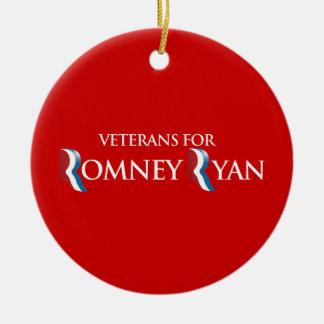 PRO-ROMNEY - VETERANS FOR ROMNEY RYAN -- .png Christmas Tree Ornaments