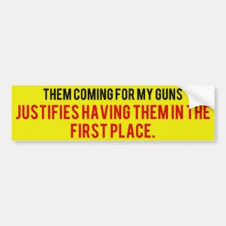Pro-Second Amendment Bumper Sticker