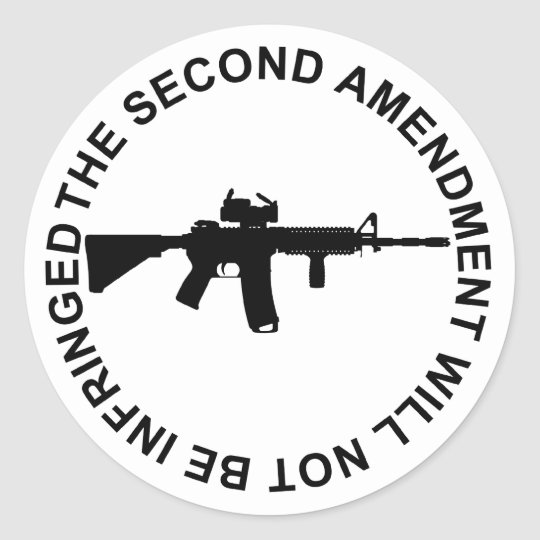 Pro Second Amendment Freedom Merchandise Classic Round Sticker