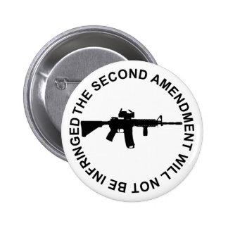 Pro Second Amendment Freedom Merchandise Pinback Button