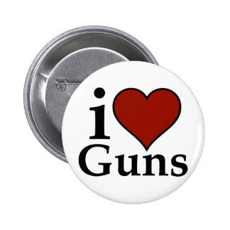 Pro Second Amendment: I Heart Guns Button