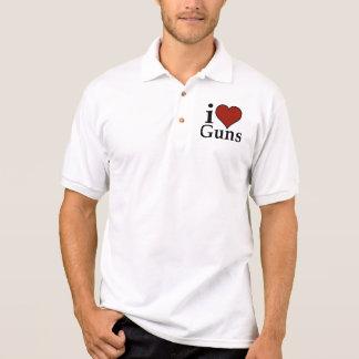 Pro Second Amendment: I Heart Guns Polo Shirt