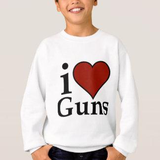 Pro Second Amendment: I Heart Guns Sweatshirt