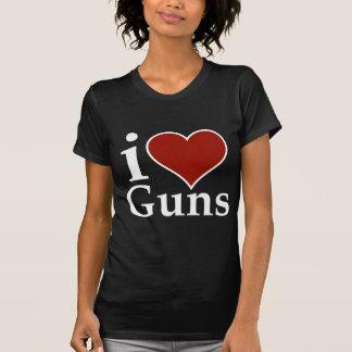 Pro Second Amendment: I Heart Guns T-Shirt